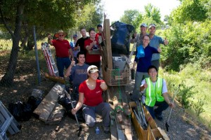 RC14 Volunteers pose with haul